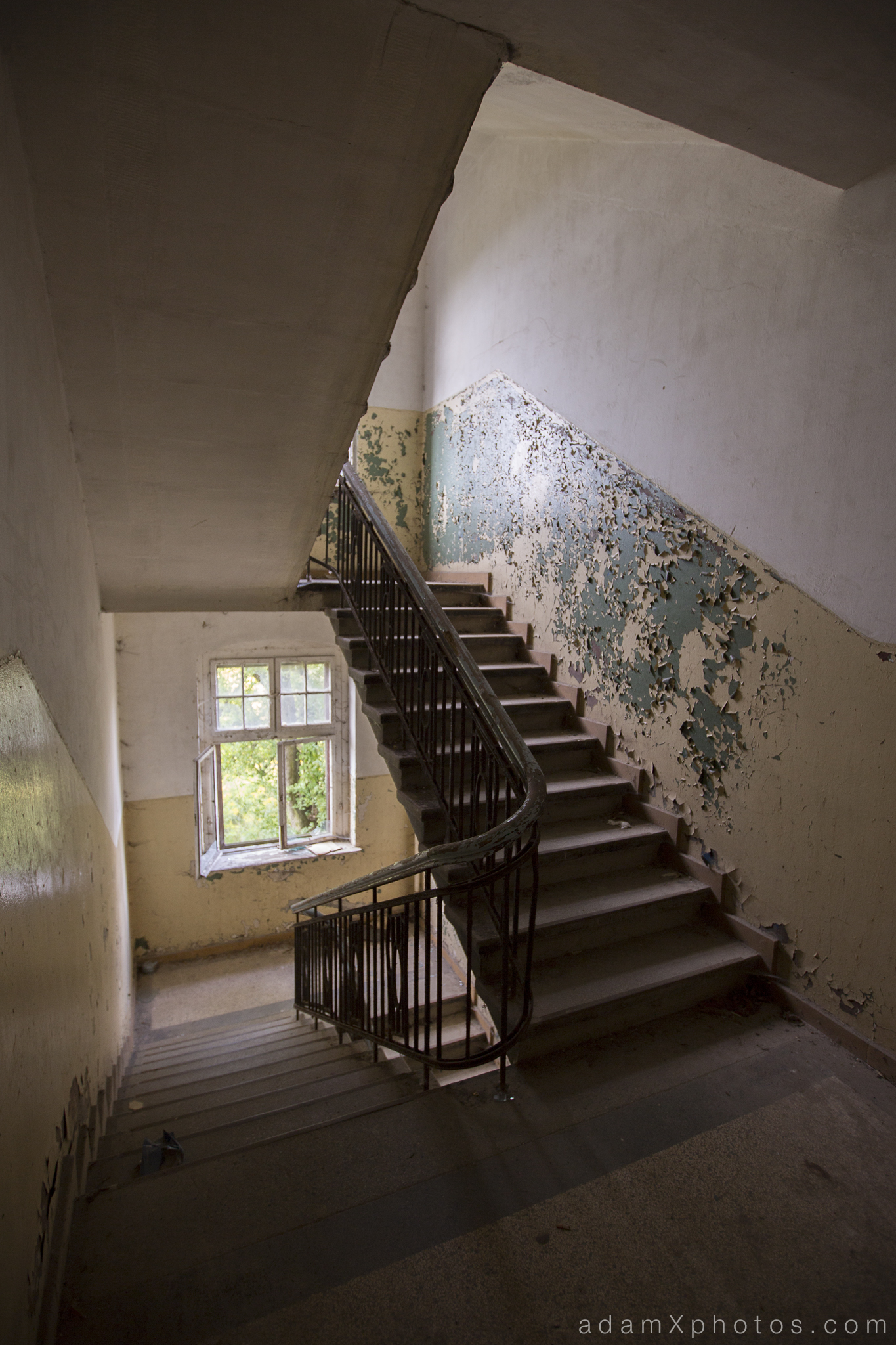 Adam X Urbex Urban Exploration Germany Juterbog School Soviet Russian Abandoned Lost Decay Stairs Staircase