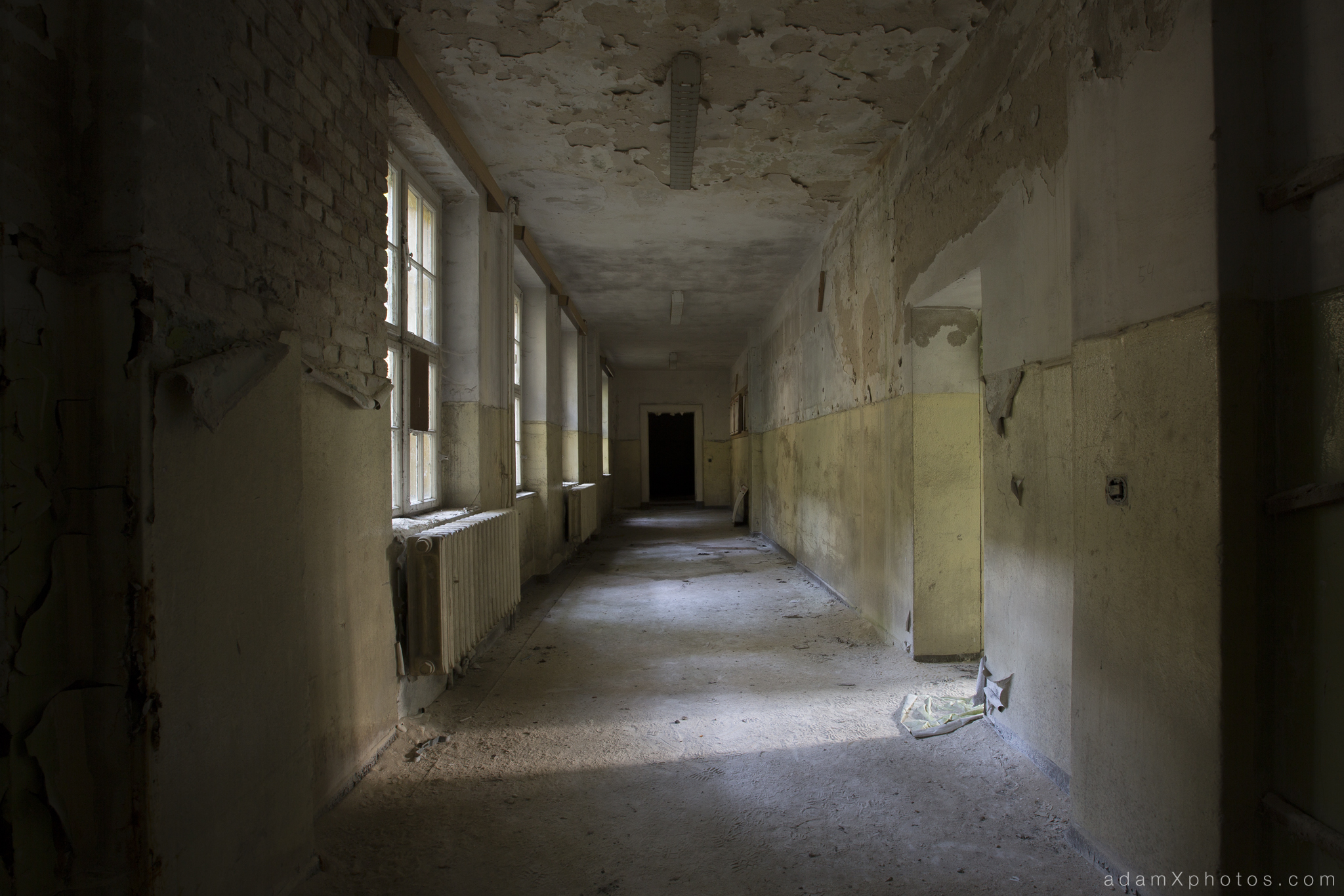 Adam X Urbex Urban Exploration Germany Juterbog School Soviet Russian Abandoned Lost Decay Corridor
