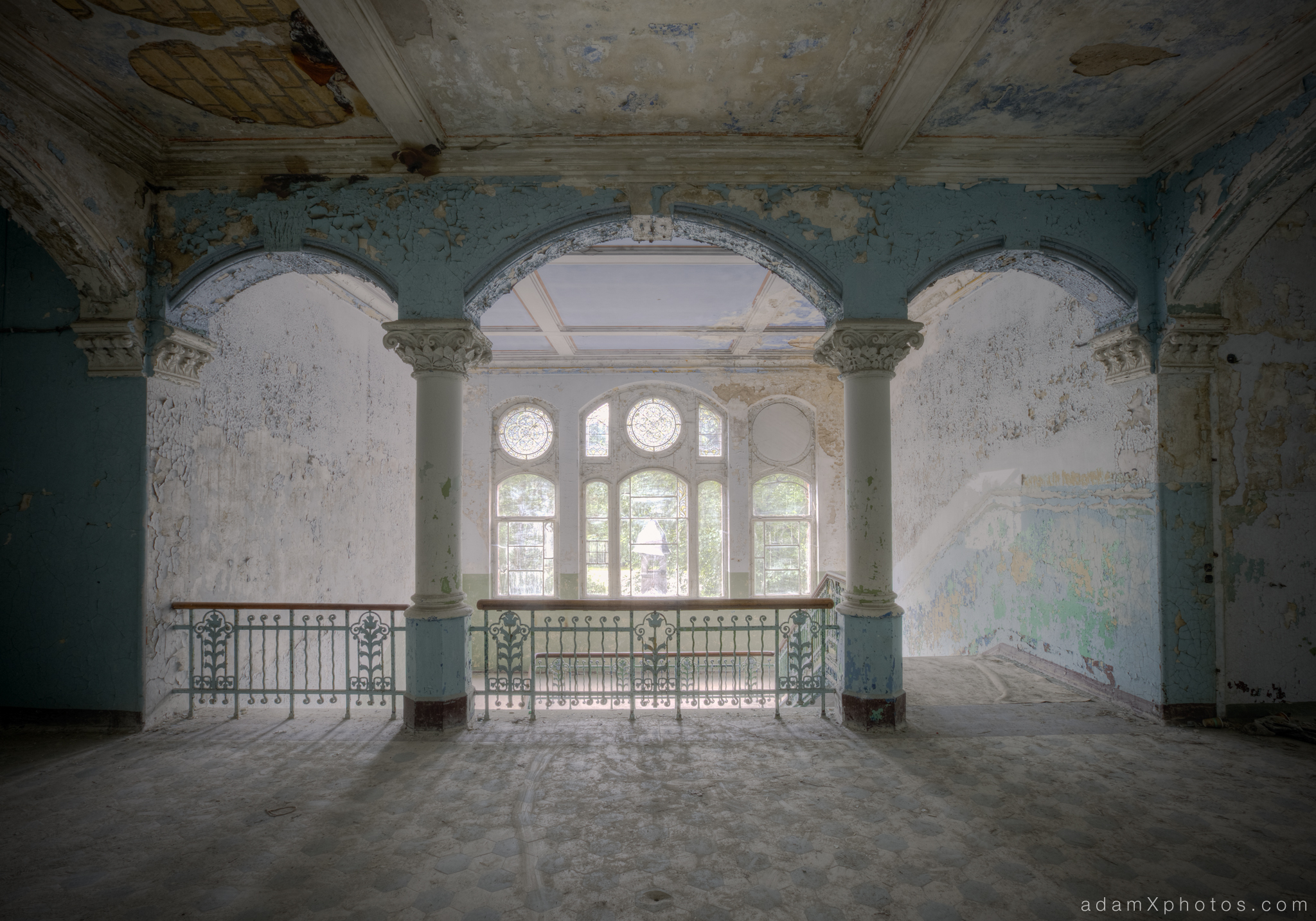 Adam X Urbex Beelitz Heilstatten Germany Urban Exploration Mens Men's Sanatorium Hospital Decay Lost Abandoned Hidden Entrance Paint