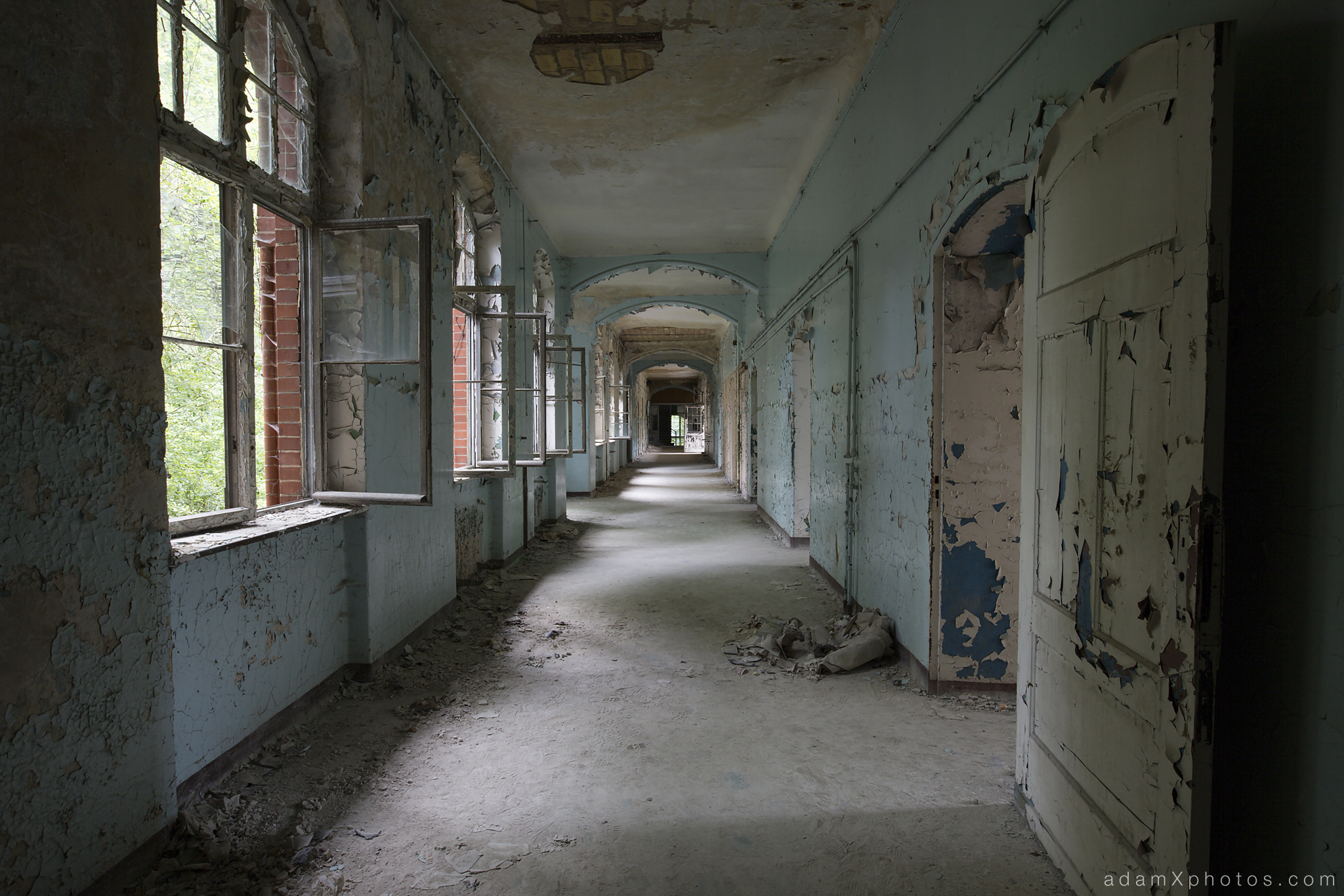 Adam X Urbex Beelitz Heilstatten Germany Urban Exploration Mens Men's Sanatorium Hospital Decay Lost Abandoned Hidden