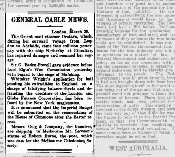 Sydney Morning Herald 20 Mar 1903