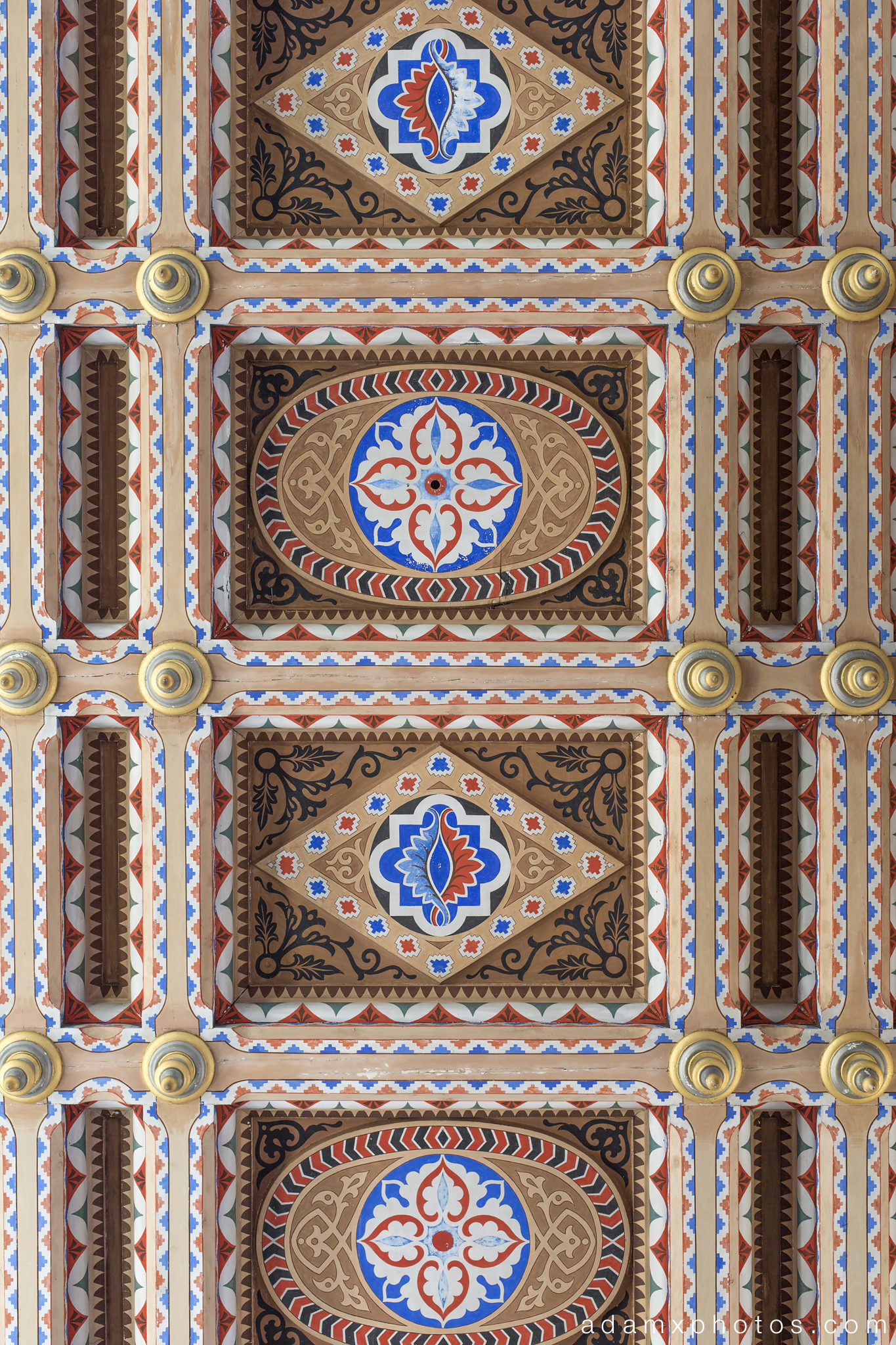 ceiling Non Plus Ultra Fairytale Castle of Sammezzano Castello di Sammezzano Urbex Adam X Urban Exploration photo photos report decay detail UE abandoned Ornate Moorish tiling tiled derelict unused empty disused decay decayed decaying grimy grime