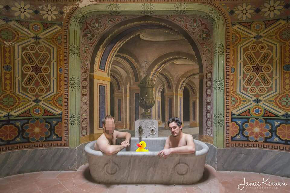 James & Adam bath anon
