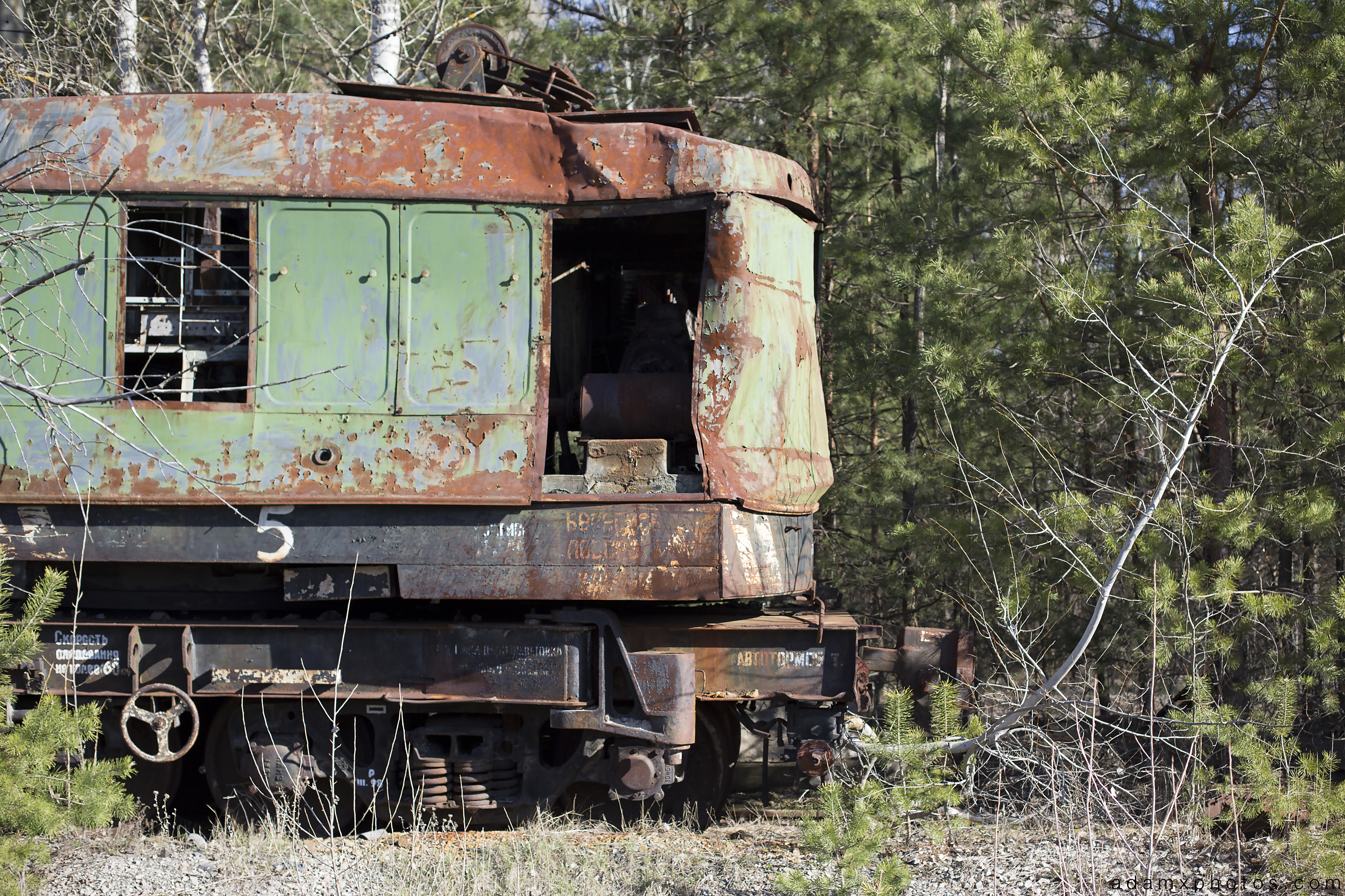 Yaniv Train station graveyard Chernobyl Pripyat Urbex Adam X Urban Exploration 2015 Abandoned decay lost forgotten derelict