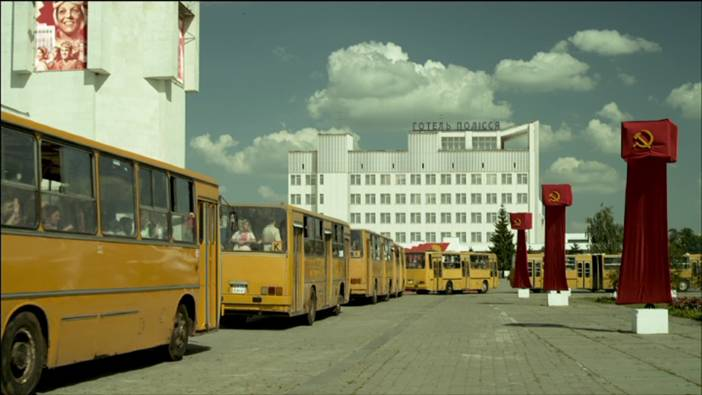 Buses evacuation
