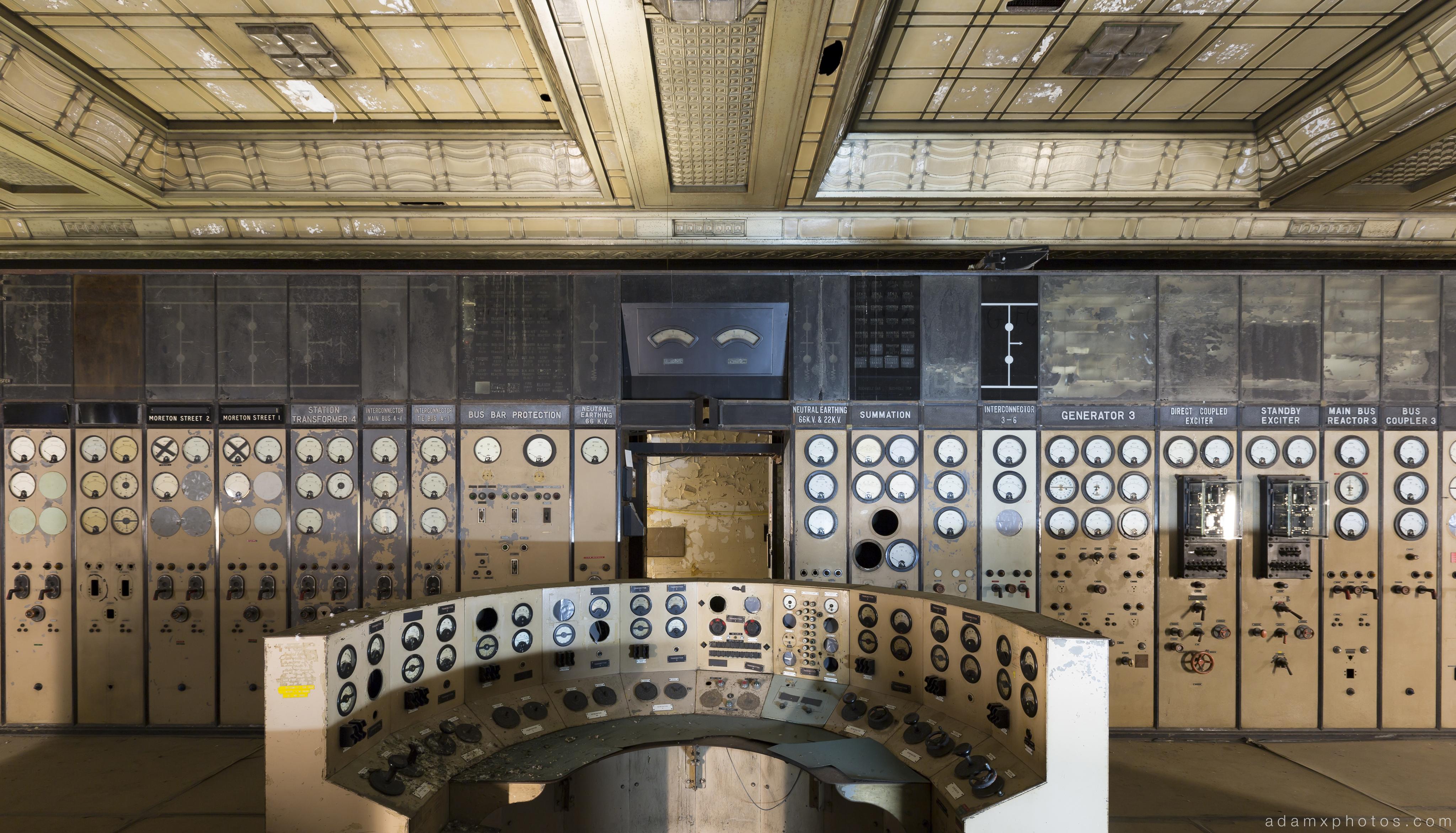 panel dials Control Room A Battersea Power Station Urbex Adam X Urban Exploration 2015 Abandoned decay lost forgotten derelict