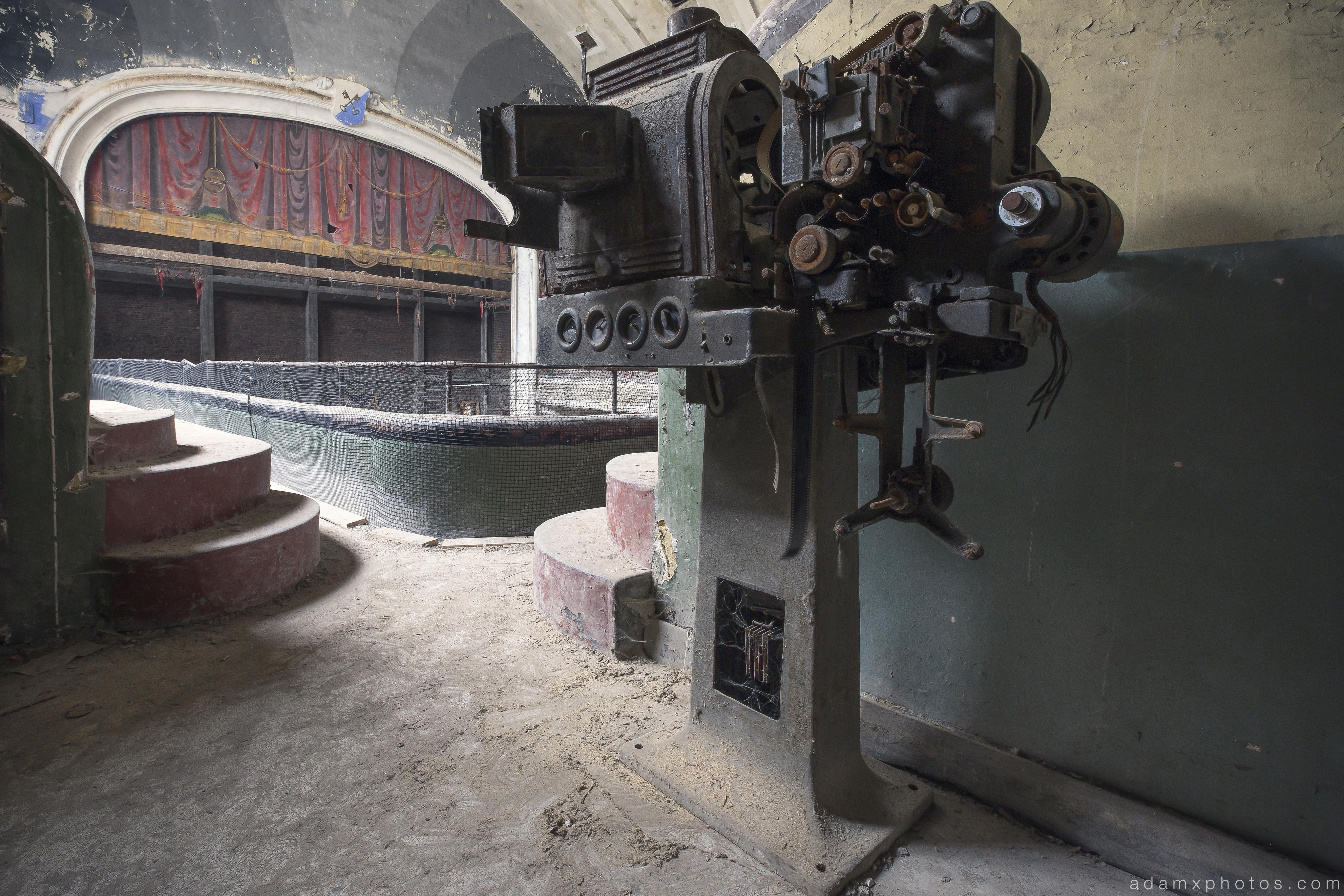 Old Projector Cinema Cine Theatre Varia Belgium Belgie Urbex Adam X Urban Exploration 2015 Abandoned decay lost forgotten derelict